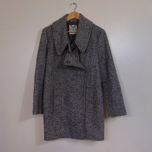 BB Dakota Grey Wool Tweed Style Peacoat